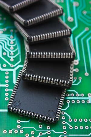 redes electricas: chip de la computadora de a bordo