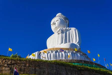 big buddha: Big Buddha monument on the island of Phuket in Thailand Stock Photo