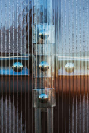 hothouse: Fasteners plastic organic glass to the profile of hothouse
