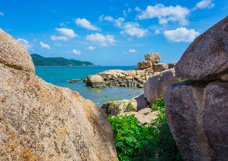 hon: Hon Chong cape, popular tourist destinations at Nha Trang. Vietnam Stock Photo