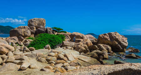 tourist destinations: Hon Chong cape, popular tourist destinations at Nha Trang. Vietnam Stock Photo