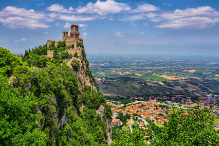 Rocca della Guaita, the most ancient fortress of San Marino, Italy Stock Photo