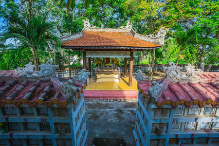 recollection: NHA TRANG, VIETNAM - APRIL 08: Nha Trang cemetery on April 08, 2012. This cemetery for peoples, who died during war between Vietnam and Usa Editorial