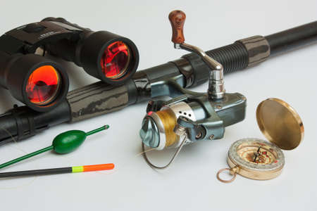 fishing bobber: Fishing gear is isolated on a white background
