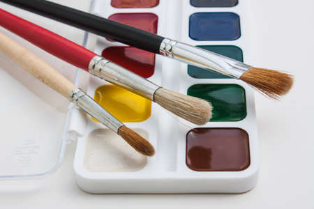 paints: brushes and paints for drawing