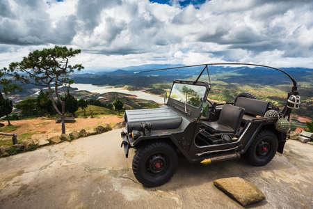 4x4: Dalat, Vietnam, NOV 26 2014, 4x4 car Vietnam made same jeep brand