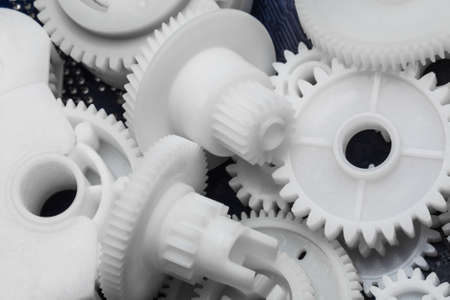 asterix: The plastic gear. Photo fragment of machine.