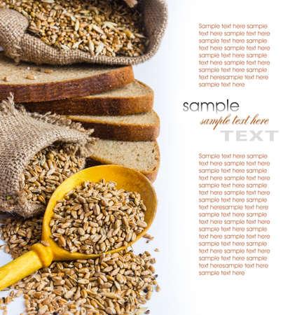 bolsa de pan: fondo de pan de ma�z y una bolsa