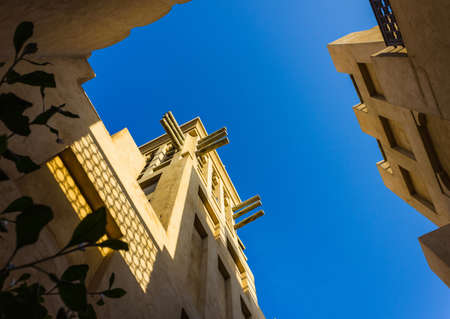 windtower: DUBAI, UAE - NOVEMBER 15: View of the  Souk Madinat Jumeirah.Madinat Jumeirah encompasses two hotels and clusters of 29 traditional Arabic houses. Nov 15, 2012 in Dubai Editorial