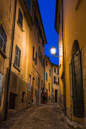 eventide: Evening street in the old town of San Marino, Italy