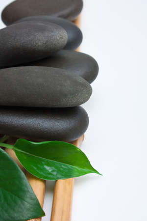 hot rock therapy: The spa stone on a white background