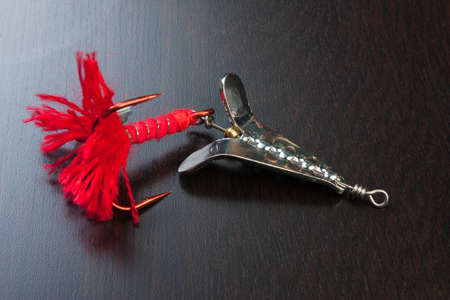 allurement: spinner with a triple hook for fishing