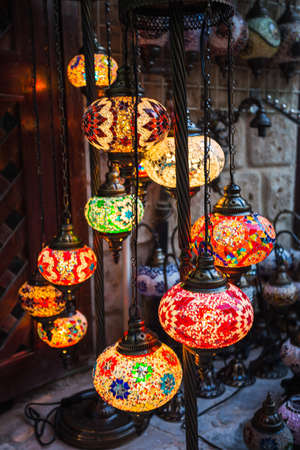 day light: Arab street lanterns in the city of Dubai in the United Arab Emirates Stock Photo