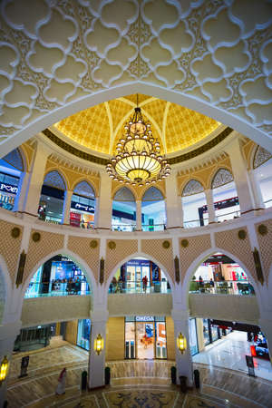 october 31: DUBAI, UAE - OCTOBER 31: Worlds largest shopping mall based on total area and sixth largest by gross leasable area, October 31, 2013 in Dubai, UAE