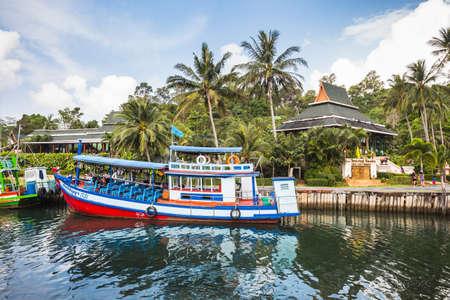 ko: THAILAND, KO CHANG- APRIL 1, 2015 : Thailand tropical island of Koh Chang. Fishing boat in Ko Chang, Thailand.