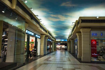 2 november: DUBAI, UNITED ARAB EMIRATES - NOVEMBER 2: Battuta Mall is the most beautiful supermarket in Dubai, November 2, 2013.