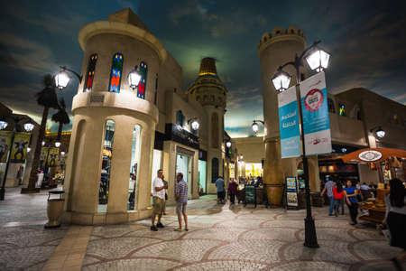 mall of the emirates: DUBAI, UNITED ARAB EMIRATES - NOVEMBER 2: Battuta Mall is the most beautiful supermarket in Dubai, November 2, 2013.