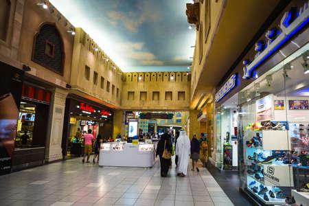 ibn: DUBAI, UNITED ARAB EMIRATES - NOVEMBER 2: Battuta Mall is the most beautiful supermarket in Dubai, November 2, 2013.