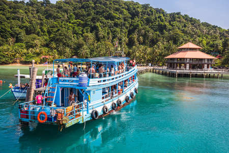dive trip: Thailand. Koh Chang. March 30, 2015. National Park Mu Ko Chang, established in 1982, is one of the main reserves of Thailand. It includes part of the island of Koh Chang and 45 islands (600 km2) Editorial