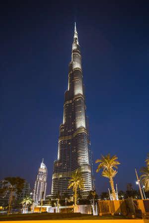 at the highest: Dubai, UAE - Nov 9, 2013: Burj Khalifa Tower, the highest building in the world Editorial