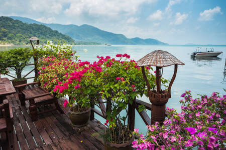 koh chang thailand april 3 2015 cafe on the veranda in the - Tropical Cafe 2015