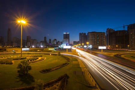united arab emirate: SHARJAH, UAE - NOVEMBER 10: Sharjah - third largest and most populous city in United Arab Emirates, on November 10, 2013.  It is the most industrialized emirate in UAE.