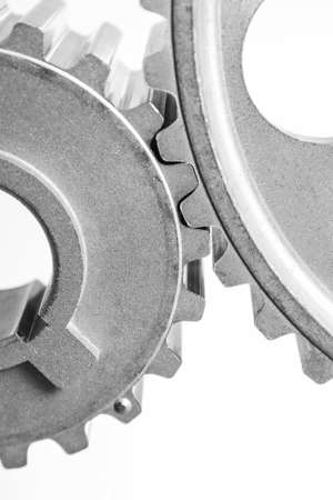 mechanisms: gears of mechanisms on a white background