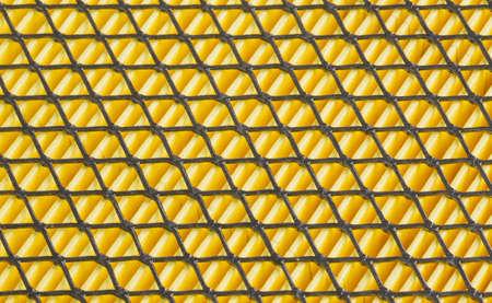 metal grid: metal grid on the car air filter