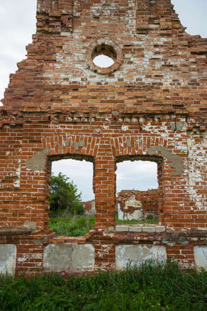Dilapidated stud farm 19th century. The ruins of Orlov stables