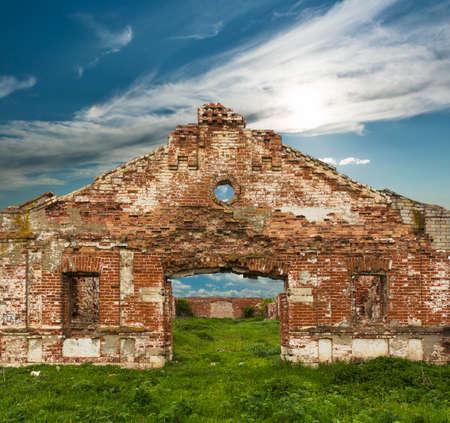 dilapidated: Dilapidated stud farm 19th century. The ruins of Orlov stables