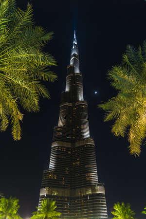 Dubai, UAE - Nov 9, 2013: Burj Khalifa Tower, the highest building in the world Editorial