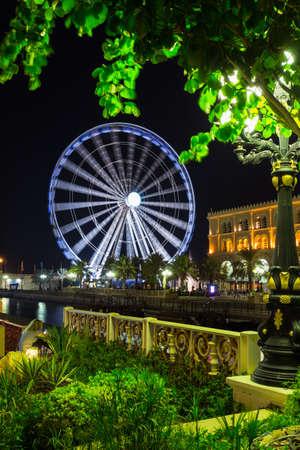 joyride: Eye of the Emirates - ferris wheel in Al Qasba - Shajah, United Arab Emirates Stock Photo