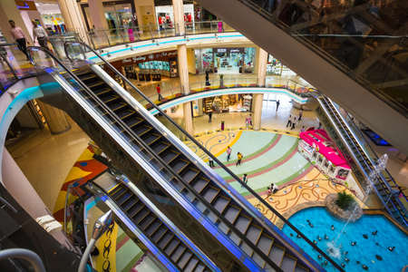 SHARJAH, UAE - OCTOBER 29, 2013: Central Souq Mega Mall of Sharjah opened on December 2001 and becoming one of leading retail and leisure destinations in UAE. It is one of largest malls in UAE at 800,000 sq. ft. Editorial