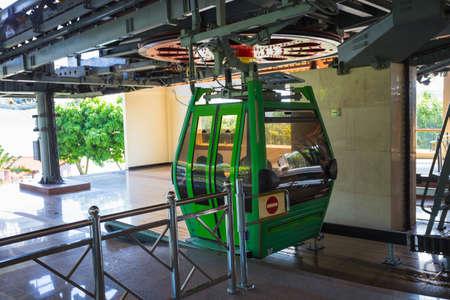 hon: VINPEARL RESORT, NHA TRANG, VIETNAM - NOV 24, 2014 - Scenery outside VinPearl Resort. Vinpearl Cable Car is a 3,311 metres long gondola lift, which links Hon Tre Island with Nha Trang. Editorial