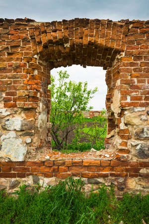 Dilapidated stud farm 19th century. The ruins of Orlov stables