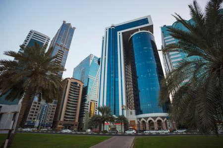 united arab emirate: SHARJAH, UAE - OCTOBER 28: Sharjah - third largest and most populous city in United Arab Emirates, on October 28, 2013.  It is the most industrialized emirate in UAE.