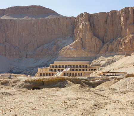 the Memorial Temple of Hatshepsut . Luxor, Egypt, 2012 year Editorial