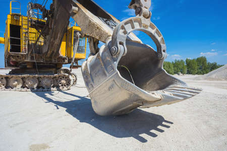 Career excavator for mining of limestone and gravel Stock Photo