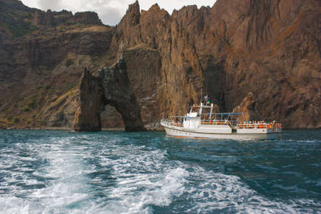 Island Golden Gate in the vicinity of Koktebel in Crimea