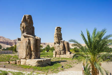 Colossi of Memnon, Valley of Kings, Luxor, Egypt, 2012 year Stock Photo