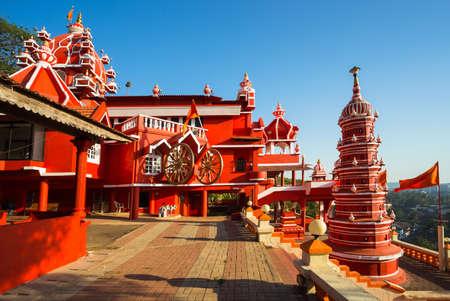 India, Goa, 8 March 2017.  Maruti Temple (Hanuman Temple) in Panjim Editorial