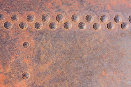 rivets: background of the rivets on rusty metals