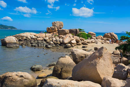 hon: Hon Chong cape, Garden stone,  popular tourist destinations at Nha Trang. Vietnam