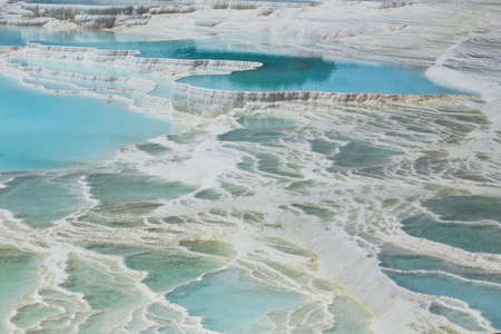 geological formation: Pamukkale exotic pearl of Turkey, the rarest natural phenomenon