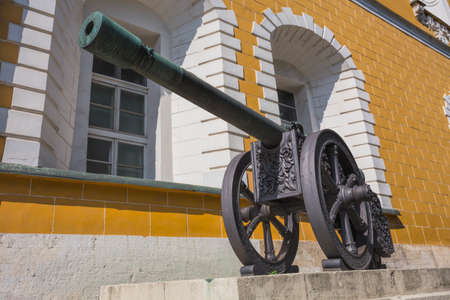 Ancient artillery Cannons In The Moscow Kremlin, Russia Stock Photo