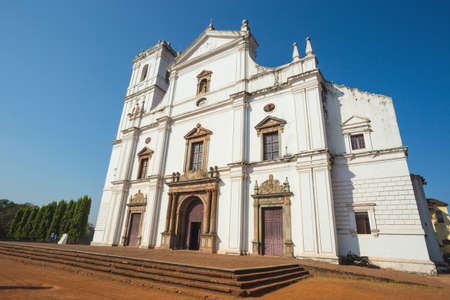 by catherine: India, Goa, March 8, 2017. Se Cathedral in Old Goa. Across the Senate Square sits the Se Cathedral de Santa Catarina, known as Se Cathedral, the largest church in India dedicated to St Catherine of Alexandria. Editorial