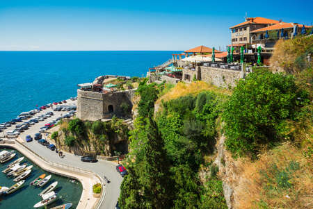 Ulcinj, Montenegro, July 28, 2017. The coast of the southernmost Montenegrin town of Ulcinj (5th century BC)