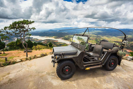 dalat: Dalat, Vietnam, NOV 2014, 4x4 car Vietnam made same jeep brand Editorial