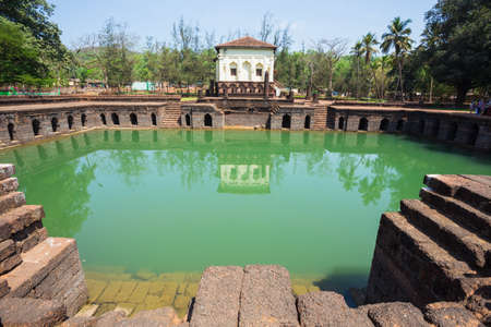 The Safa Shahouri Masjid, Phonda, Goa, India. The Safa Shahouri Masjid is one of the 27 Mosques built in Ponda by Ibrahim Adilshah in 1560 Stock Photo