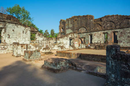 PANJIM, GOA, INDIA - 8 MARCH 2017 : Church of St Augustine was constructed between 1592 to 1602 by Augustinian friars and it was abandoned in 1835 due to a continual series of deadly epidemics. Editorial